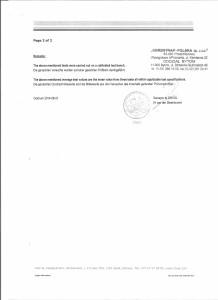 Certyfikat pasy DNV Coldlash 150 strona 2